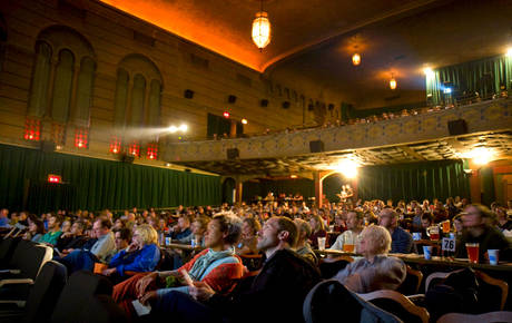 Perfect Photo Of Crowd In Movie Theater In Portland, OR   Bagdad Theater U0026 Pub