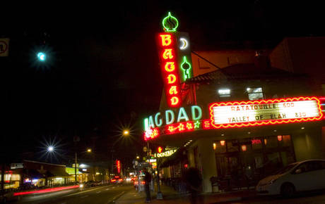 Portland, OR Movie Theaters Marquee Sign Photo   Bagdad Theater U0026 Pub