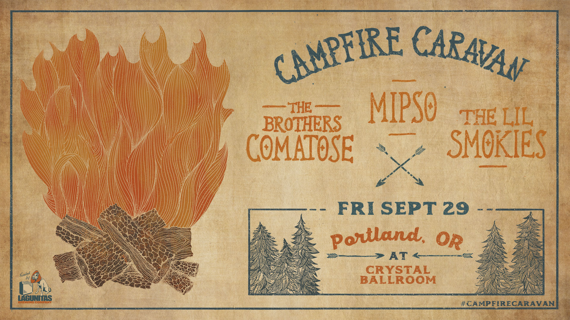 """Campfire Caravan"" featuring The Brothers Comatose, The Lil' Smokies, & Mipso"