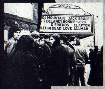 Listening party: Fillmore East, New York City, Feb 1970
