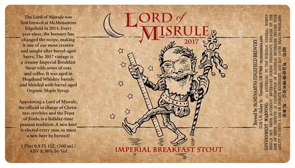 Lord of Misrule Bottle Release Party
