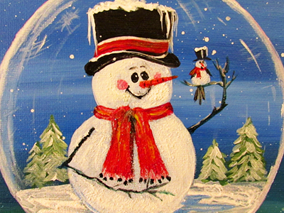 Snow Globe Paint N Party