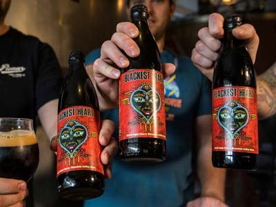 Blackest Heart Barrel-Aged Cherry Chocolate Coffee Imperial Stout Bottle Release