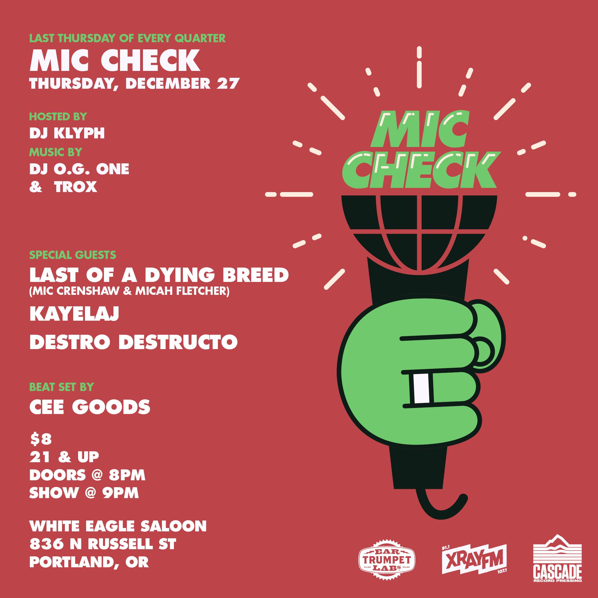 """""""Mic Check"""""""