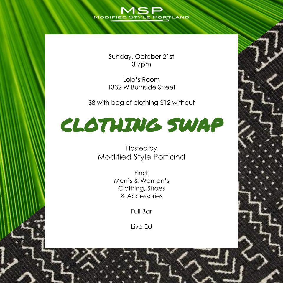 Fall Clothing Swap