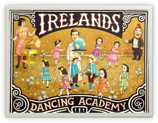 Irelands Dancing Academy art by Lyle Hehn